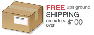 Free UPS Ground Shipping on Orders over $100